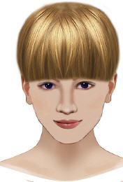 image of full bangs fringe