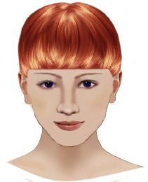 short straight bangs fringe image