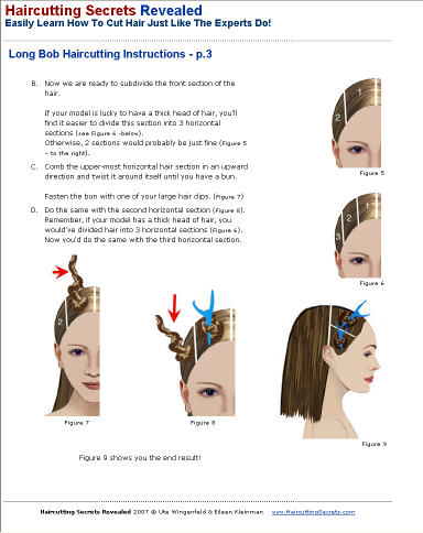 long bob professional haircutting instructions