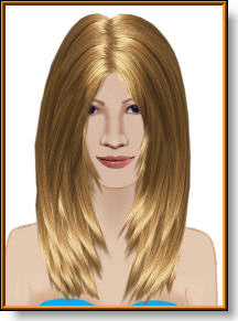 long layered hair image