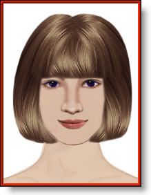 medium bob hairstyle haircut with fringe image