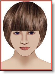 round bob hairstyle haircut image