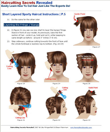 short layered sporty hairstyle haircutting technique instructions
